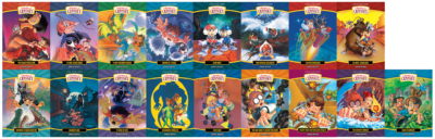 The complete animated series features 17 titles, each sold separately.